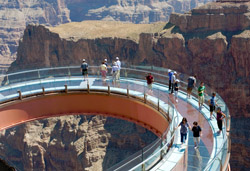 The Grand Canyon Skywalk with Arrow Stage Lines