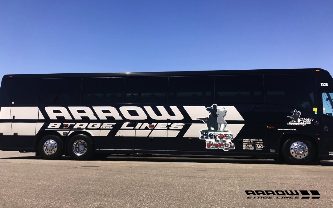 Arrow Stage Lines Partners with Heroes in the Rough